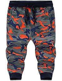 e8fbf2e84f171 FuweiEncore Pantalones de chándal para Hombre Pantalón Corto Deportivo Camo  Combat Pantalones Cortos 3 4
