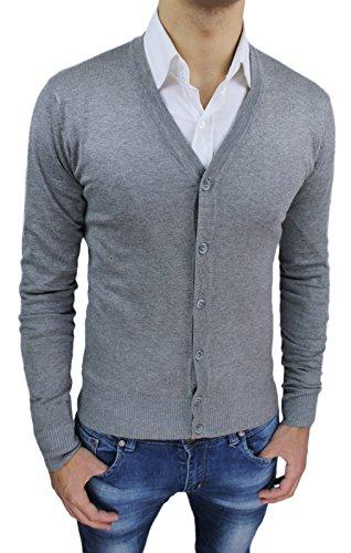 cardigan-maglioncino-uomo-grigio-casual-maglia-maglione-golfino-slim-fit-l