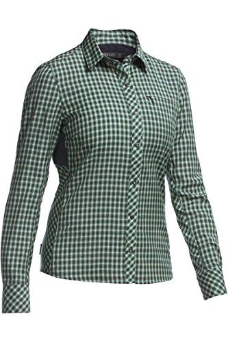 Icebreaker Damen Terra LS Plaid Outdoorbluse Hemd