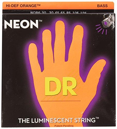 Dr Strings nob63030-125Medium Set Handmade Neon High Definition orange beschichtet saitigen Bass Saiten