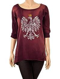 Damen Shirt Batik Muster Adler mit Krone Print