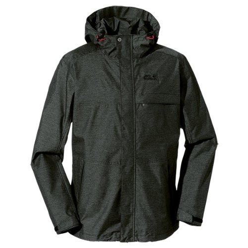 Jack Wolfskin Herren Wetterschutzjacke Seaton Jacket Men, Black, L, 1105051-6000004