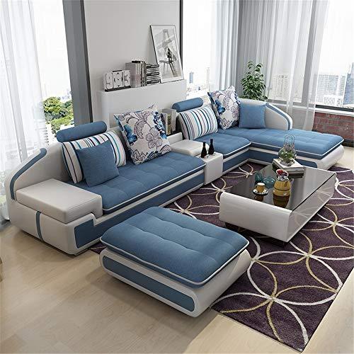 Schlaffunktion,Möbelset Rattan Wicker Patio Modular Schnittsofa Montage Modular Schnittsofas Bundle Set Kissen Einfach zu montieren -