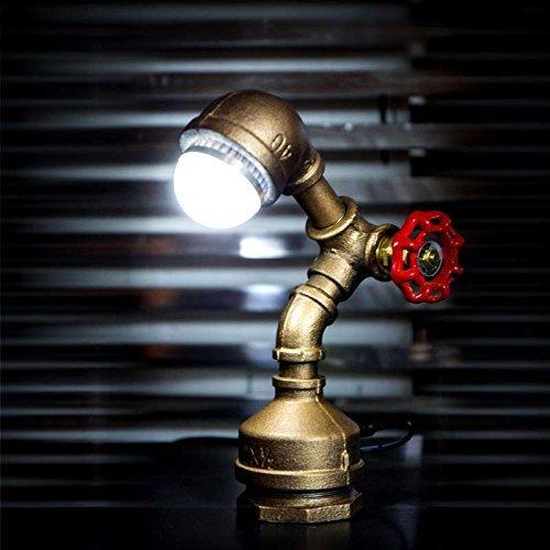 Preisvergleich Produktbild WXBW Tischlampe-Retro Industrie Wind Wasser Schreibtischlampe Studie Bar Kaffee kreative Rohr Shop Leuchten