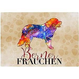 Cadouri Frühstücksbrettchen BERNER FRAUCHEN Glasschneidebrett Schneidebrettchen – 28,5 x 20 x 0,4 cm