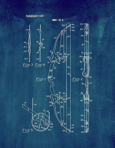 EBONI ELLIOTT Compound Archery Bow Patent Print Midnight Blue (8.5