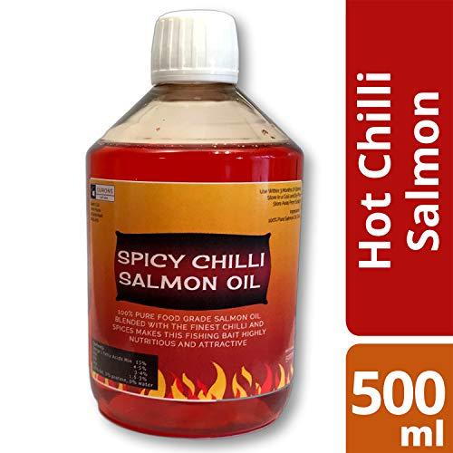 OURONS 500 ML Spicy Chilli Huile de Saumon pour pêche...
