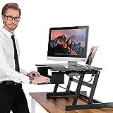 ER sain Sit-Stand Workstation Ordinateur de bureau | Réglable en hauteur permanent bureau | Montée et descente de dessus de table à divers postes pour ergonomique Comfort (Black)