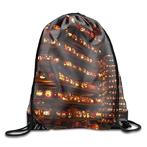 uykjuykj Tunnelzug Rucksäcke, Holiday Halloween Drawstring Gym Sport Bag Durable Drawstring Backpack for Teen Holiday Halloween4 Lightweight Unique 17x14 IN