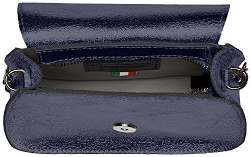 Chicca Borse 1615, Borsa a Spalla Donna, 19x14x8 cm (W x H x L) Blu (Blue)