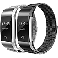 Für Fitbit Charge 2 Armband, Weich Milanese Edelstahl Armbanduhren Smart Watch band Fitness für Fitbit Charge 2