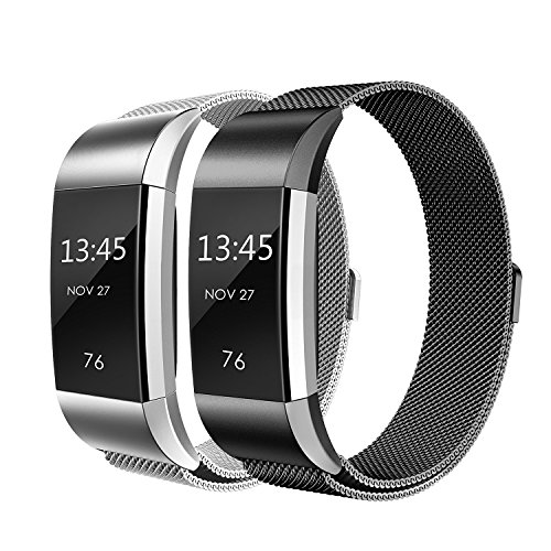 Fitbit Charge 2 Armband, Weich Milanese Edelstahl Armbanduhren Smart Watch band Fitness für Fitbit Charge 2