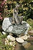 Letizia klein Bronzefigur Skulptur aus Bronze echte Handarbeit Gartenskulptur Gartenfigur Garten-Statue