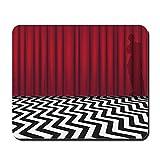 CafePress–Schwarz Lodge Twin Peaks–rutschfeste Gummi Mauspad, Gaming Maus Pad