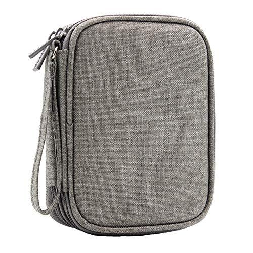 JadeLotus Doppelte Schichte Festplattentasche Externe Festplatte Tasche Case stoßfest SSD HDD für 2,5