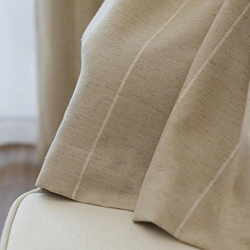 traitements de fenêtre Rideaux et Drapes Rideaux occultant Gris brun de fusion pour décoration de fenêtre Chambre à coucher Salon balcon Produit Fini Grommet Top un panneau, marron, 1pc(200*260 cm)