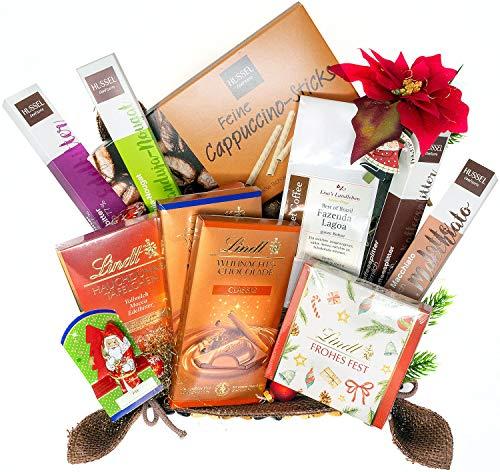 Lisas Landleben Weihnachten Geschenkkorb Präsentkorb Glückskorb Schokolade macht glücklich Schokoladenpräsentkorb Weihnachtskorb