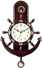 Dream Picker Plastic Pendulum Wall Clock (32 cm X 32 cm X 5 cm, Brown)