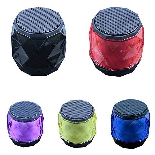 feicahnghao SpeakerWireless Mini Bluetooth Lautsprecher Kleiner Diamond Subwoofer Lautsprecher Music Fidelity Player - Unterhaltungselektronik Tragbarer Lautsprecher, Lila