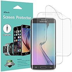 JETech Film de Protection d'écran pour Samsung Galaxy S6 Edge, TPE HD Clair, Lot de 2
