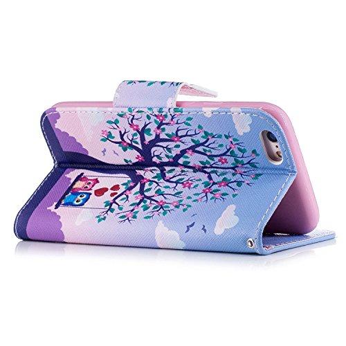 Custodia iPhone 6/6s Case Kcdream Fashion Moda Ultraslim PU Caso Elegante Carina Souple Leather Morbido Wallet Copertura Perfetta Protezione Shell Paraurti Custodia Per iPhone 6 iPhone 6s (4.7 Pollici Due Aquile