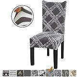 Fuloon Stuhlhussen 4er 6er Set Stuhlbezug Stretch Esszimmer Sitz Stuhl Abdeckungen für Haus (6 Stück Platz)