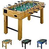 """Tischfussball """"Glasgow"""" inkl. Zubehör Set, 3 Farben, 2 Getränkehalter, höhenverstellbare Füße, nahtlos hochgezogene Spielfeldecken, Tischkicker, Kicker, Kickertisch"""