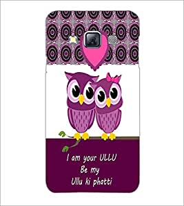 PrintDhaba Loving Owls D-3978 Back Case Cover for SAMSUNG GALAXY A3 (Multi-Coloured)