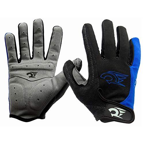IKuaFly Guanti Moto MTB Ciclismo Invernali Crossfit Gel Palma Protezione - Bici Windstopper Sports Gym Gloves-Uomo Donna (M, blu)