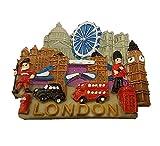 Detalles 3-D London City escena Coleccionable de UK Souvenir cierre magnético! Souvenir/Speicher/pendolare rovatese! Memorable, Classic British UK Coleccionable de imán! Aquí a Memorable London Souvenir! Diseño con texto en/imán/Magnete/Imán!