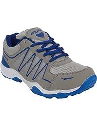 Arexon Men's Synthetic Grey Colored Sport Shoe( Men's Running Shoe, Breathable Sports Shoe, High Grip Sports Shoe... - B074Q27ZMJ