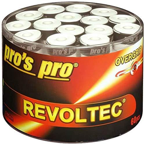 60 Tennis Griffbänder Revoltec weiss