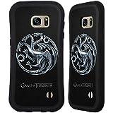 Officiel HBO Game Of Thrones Silver Targaryen Symboles Étui Coque Hybride pour Samsung Galaxy S7 edge