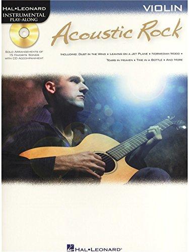 Instrumental Play-Along: Acoustic Rock (Violin). Partitions, CD pour Violon