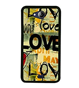 Love Wallpaper 2D Hard Polycarbonate Designer Back Case Cover for Micromax Canvas Play Q355