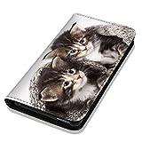Hülle Galaxy S3 Mini Hülle Samsung S3 Mini i8190 i8200 Schutzhülle Handyhülle Flip Cover Case Samsung Galaxy S3 Mini i8190 i8200 (OM1046 Katze Katzen Baby Kätzchen süß)