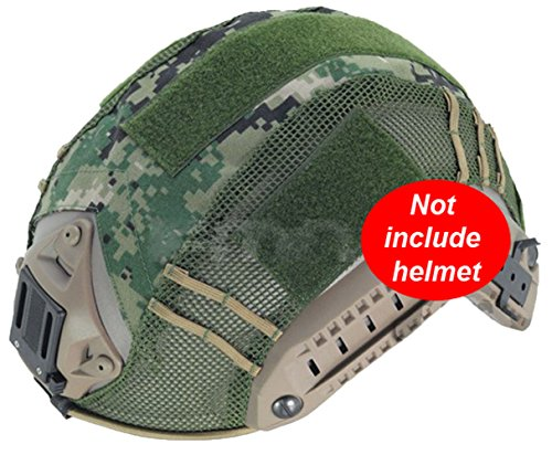 worldshopping4u Military Army Tactical Paintball Softair Jagdsport Shooting Gear Combat Maritime Camouflage Helm, ohne Helm, 3Farben bei FG, DIGITAL DESERT, DIGITAL WOODLAND Digital Woodland