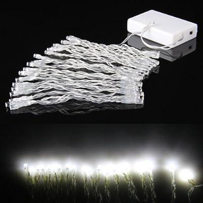 Power Online 40 Led Lichterkette Batteriebetrieben Wei Fr Garten Biergarten Party Aussen Innen-beleuchtung Leuchte Deko von Power Online