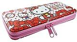 #3: Hard Cover, Zip Enclose Multi Purpose Pencil Pen Case Storage Box Holder pencil Pouch Pencil Box For Boys And Girls (Hello Kitty)