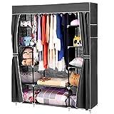 Homdox Faltbare KleiderschrankFaltschrank Garderobenschrank Garderobe Schuhregal Regale