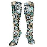 Jennsala Calzini marocchini geometrici stella unisex comodi calzini casual da uomo Calzini alla caviglia novità 50 cm / 19,7 pollici