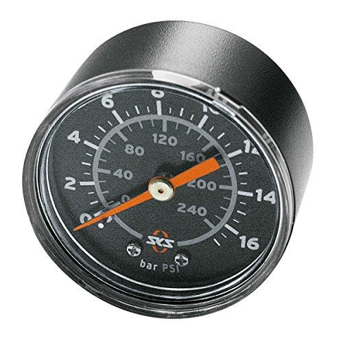 """SKS Zubehör Manometer 16 bar R1/4\"""" Rennkompressor, schwarz, 5 x 5 x 3 cm"""
