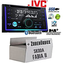 caraudio24 Kenwood KDC-BT430U AUX USB Bluetooth MP3 CD Autoradio f/ür Skoda Fabia 6Y Facelift 2004-2007 Quadlock