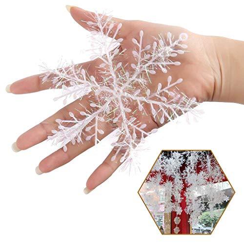 Tumao 12 Stück Schneeflocken deko,Schneeflocken Ornament, Schneeflocke Schneeflockendekoration zum Aufhängen,Weihnachten Hängende Verzierung.