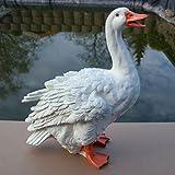 Dekofigur Gans Ente Vogel Erpel Tierfigur Deko Ostern Weihnachten GartenTeich