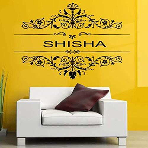 Abnehmbare Vinyl Aufkleber Wandtattoo Wall Decor Poster Kunst Shisha Shisha Wasserpfeife House Cafe Smoke Shop Shop Außenschild 57x87cm