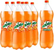 Mirinda Orange, Carbonated Soft Drink, Plastic Bottle, 2.25 Litre x 6