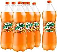 Mirinda Orange, Carbonated Soft Drink, Plastic Bottle, 2.25 Litre x 6