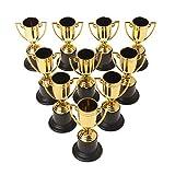Tandou 10pcs Golden Cups Trophy Sports Gagnant Éducatif Accessoires Enfants Récompense Prix Jouets...