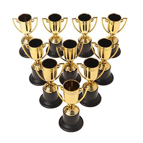 LLLucky 10 Stücke Trophäe Tasse Gold Tassen Kinder Belohnung Gewinner Pädagogische Requisiten Preise Spielzeug